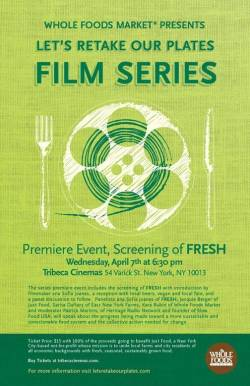 poster for the FRESH screening