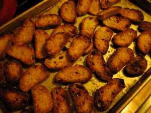 browned croutons