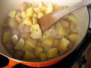 simmering veggies